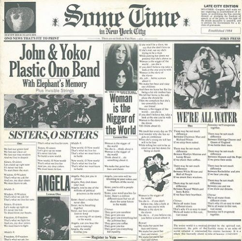 JOHN LENNON (PLASTIC ONO BAND) Some Time In New York City Vinyl Record LP US Apple 1972